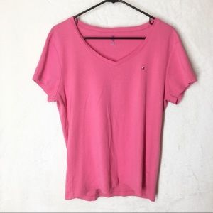 Tommy Hilfiger Pink V-Neck Top